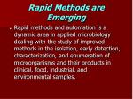 rapid methods are emerging
