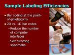 sample labeling efficiencies