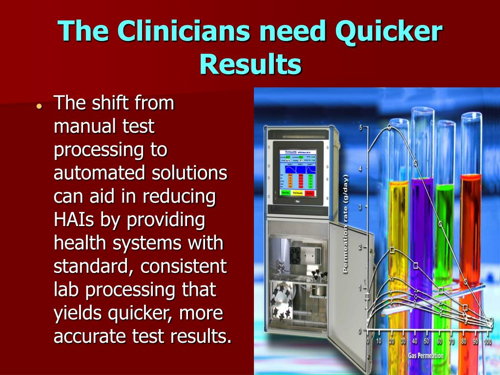 The Clinicians need Quicker Results