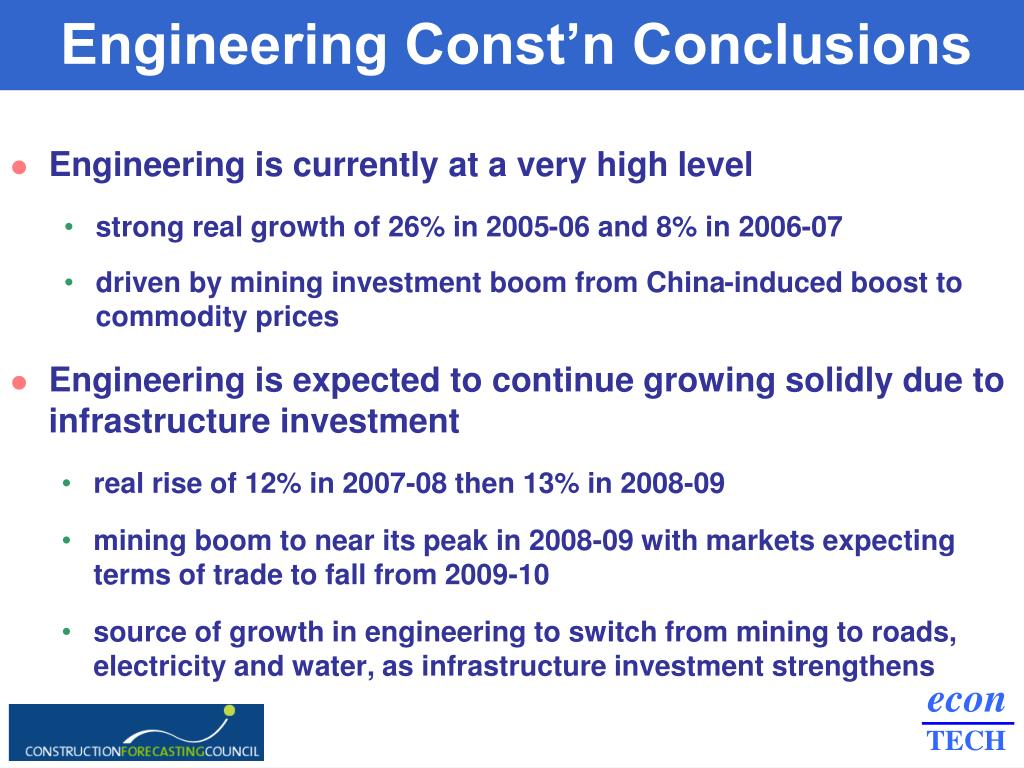 Engineering Const'n Conclusions