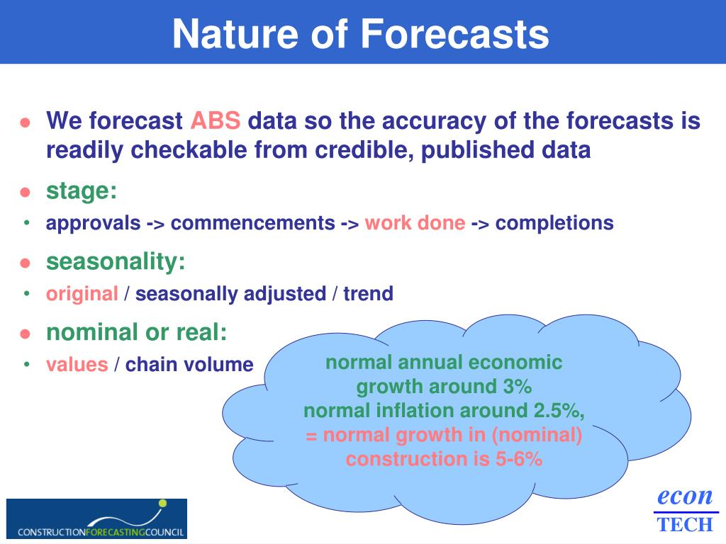 Nature of Forecasts