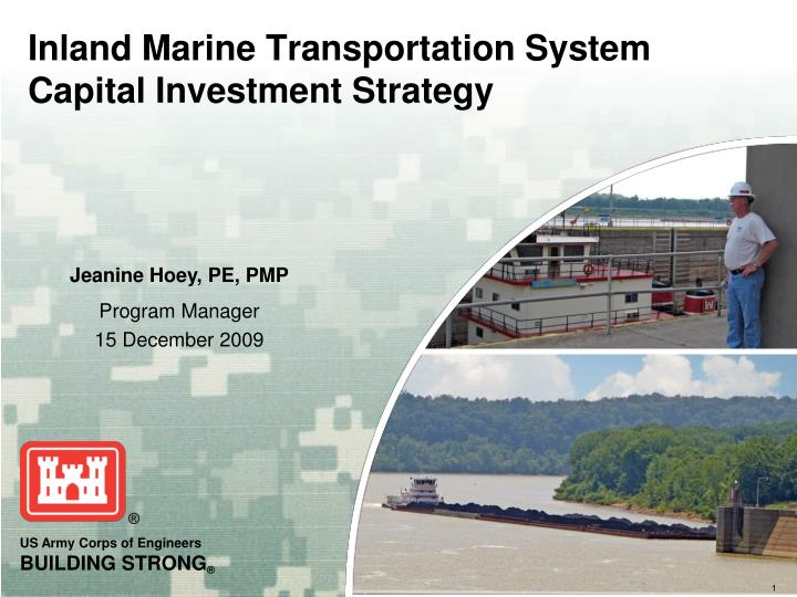 inland marine transportation system capital investment strategy n.