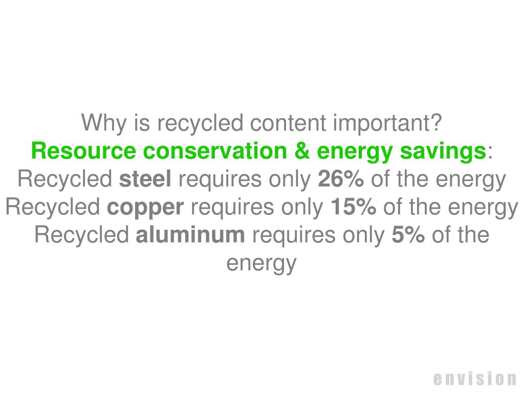 Why is recycled content important?