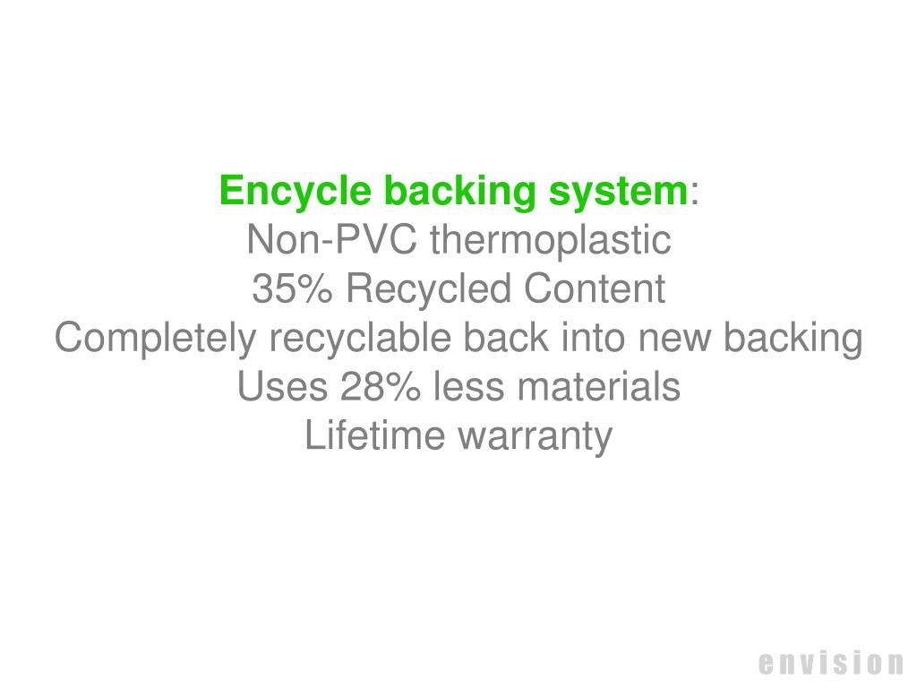 Encycle backing system