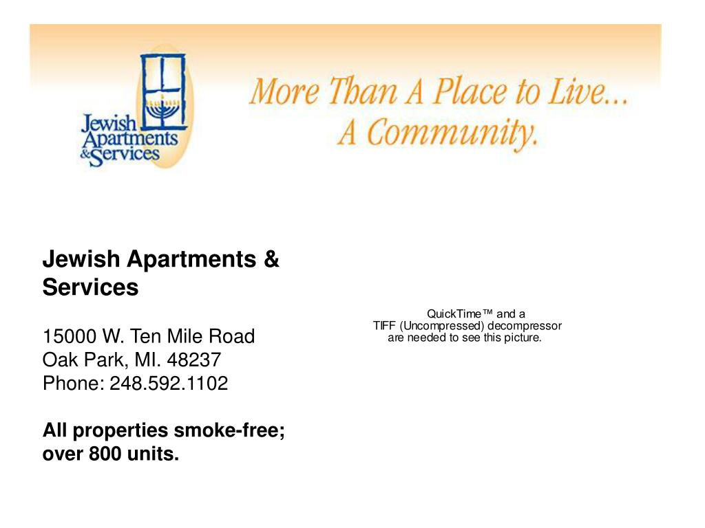 Jewish Apartments & Services