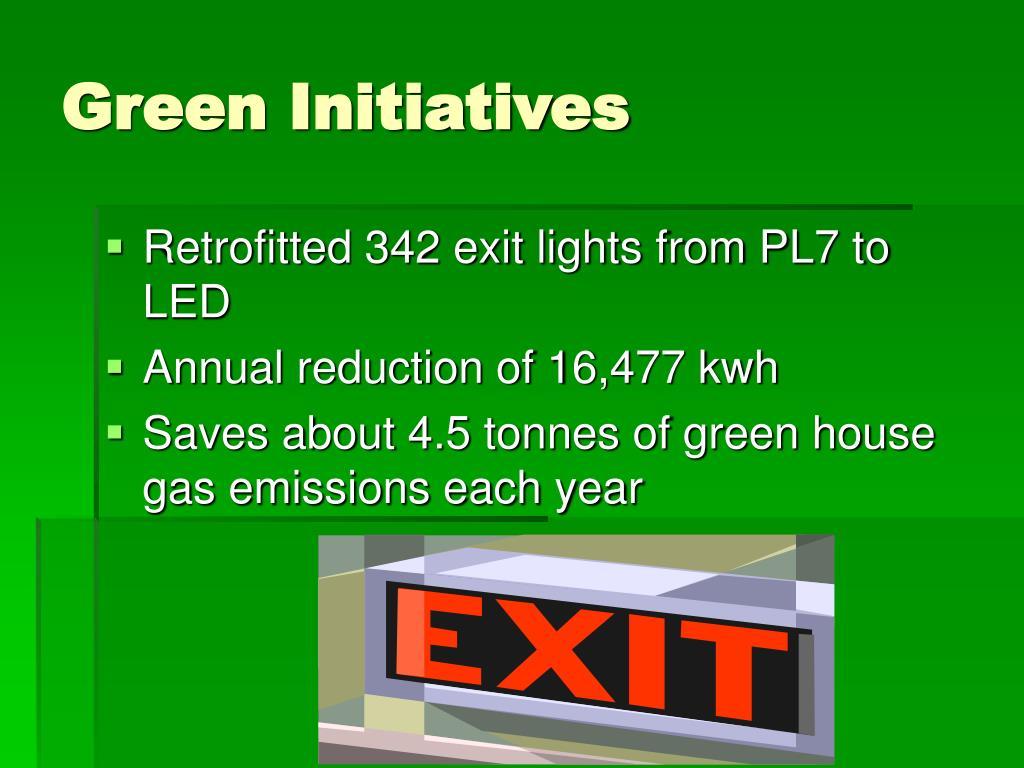 Green Initiatives