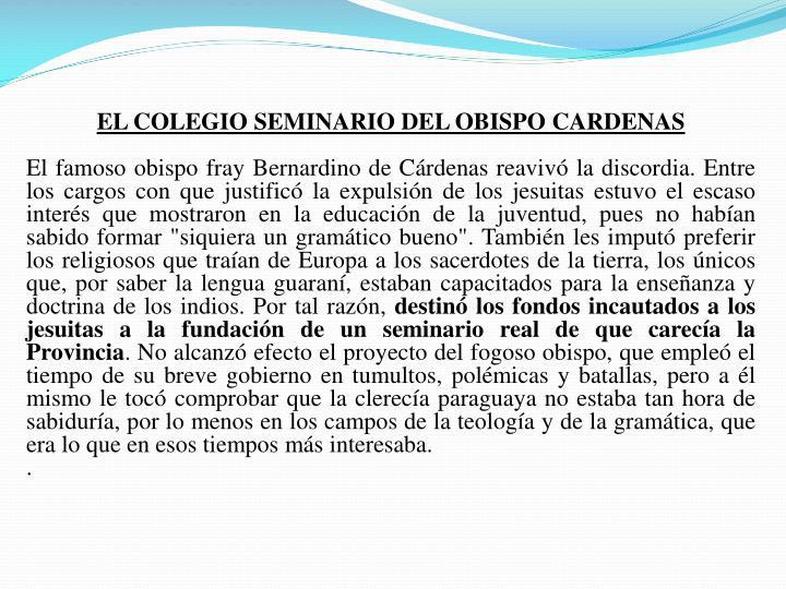 EL COLEGIO SEMINARIO DEL OBISPO