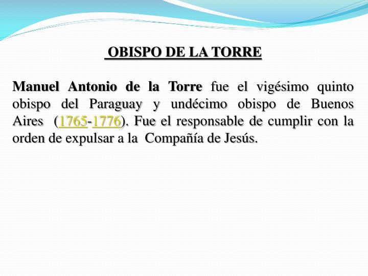 OBISPO DE LA TORRE