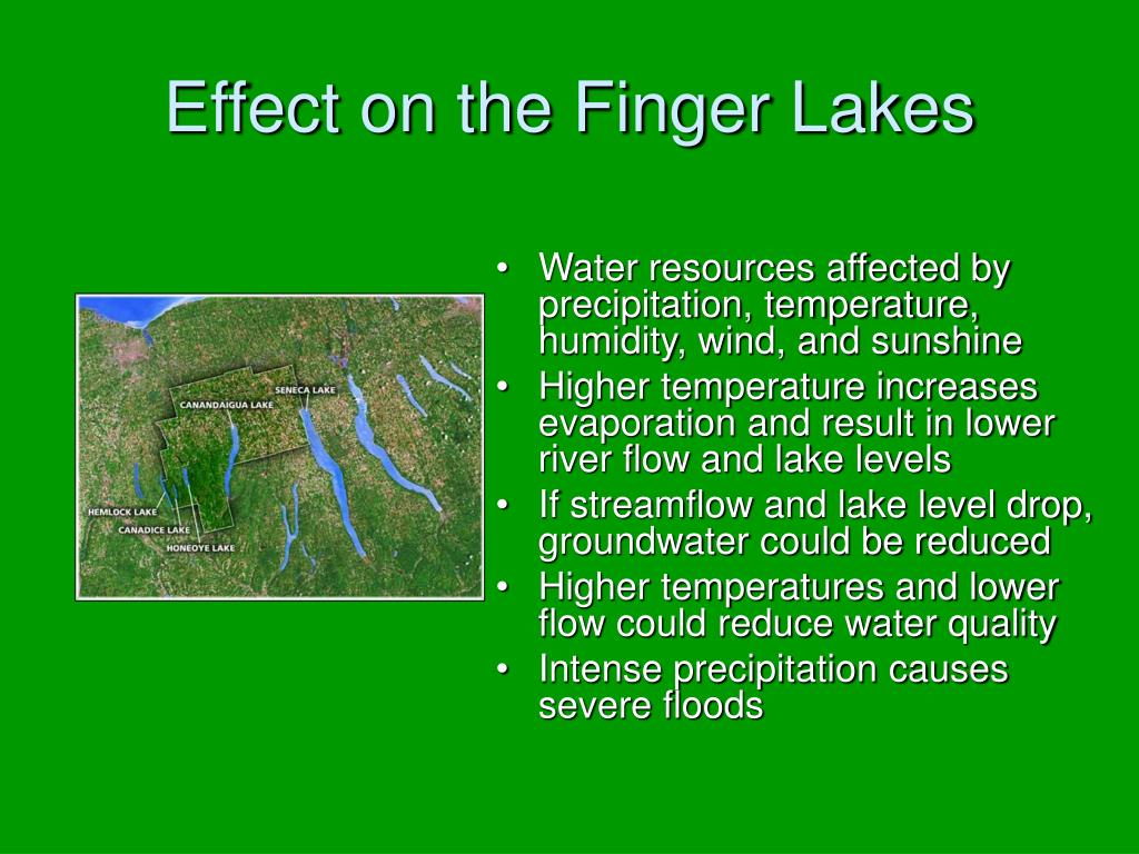 Effect on the Finger Lakes