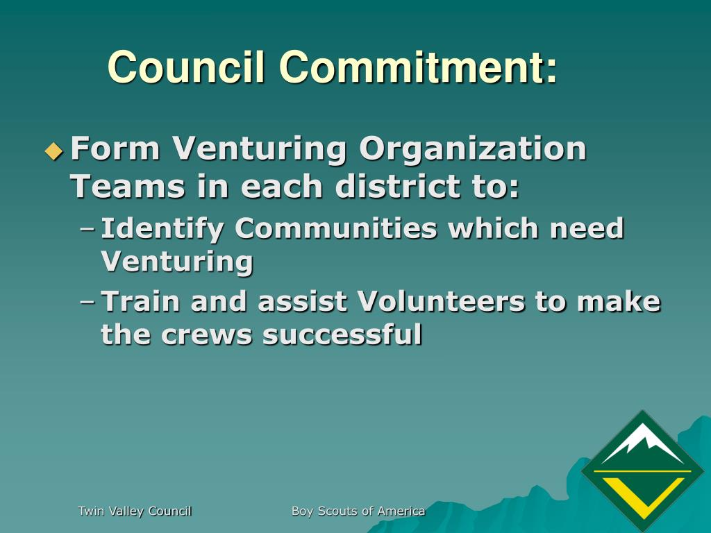 Council Commitment: