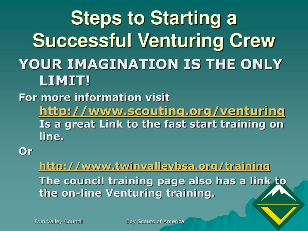 Steps to Starting a Successful Venturing Crew