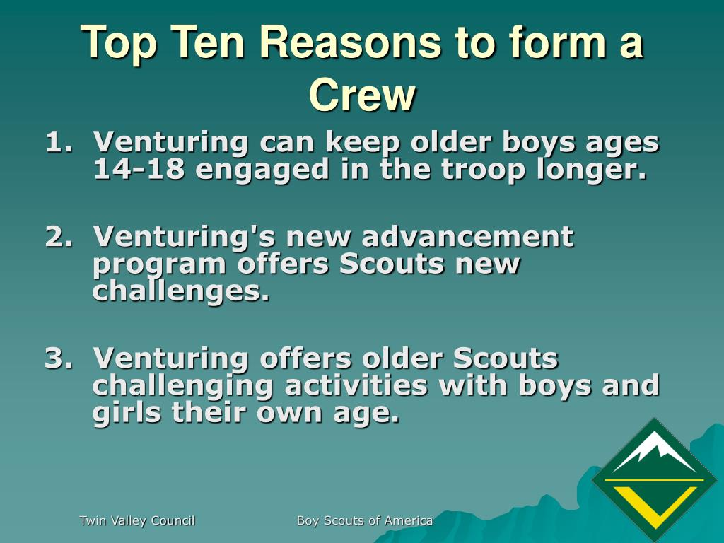 Top Ten Reasons to form a Crew