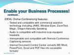 enable your business processes continued