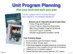 unit program planning15