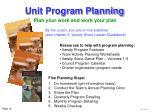 unit program planning16