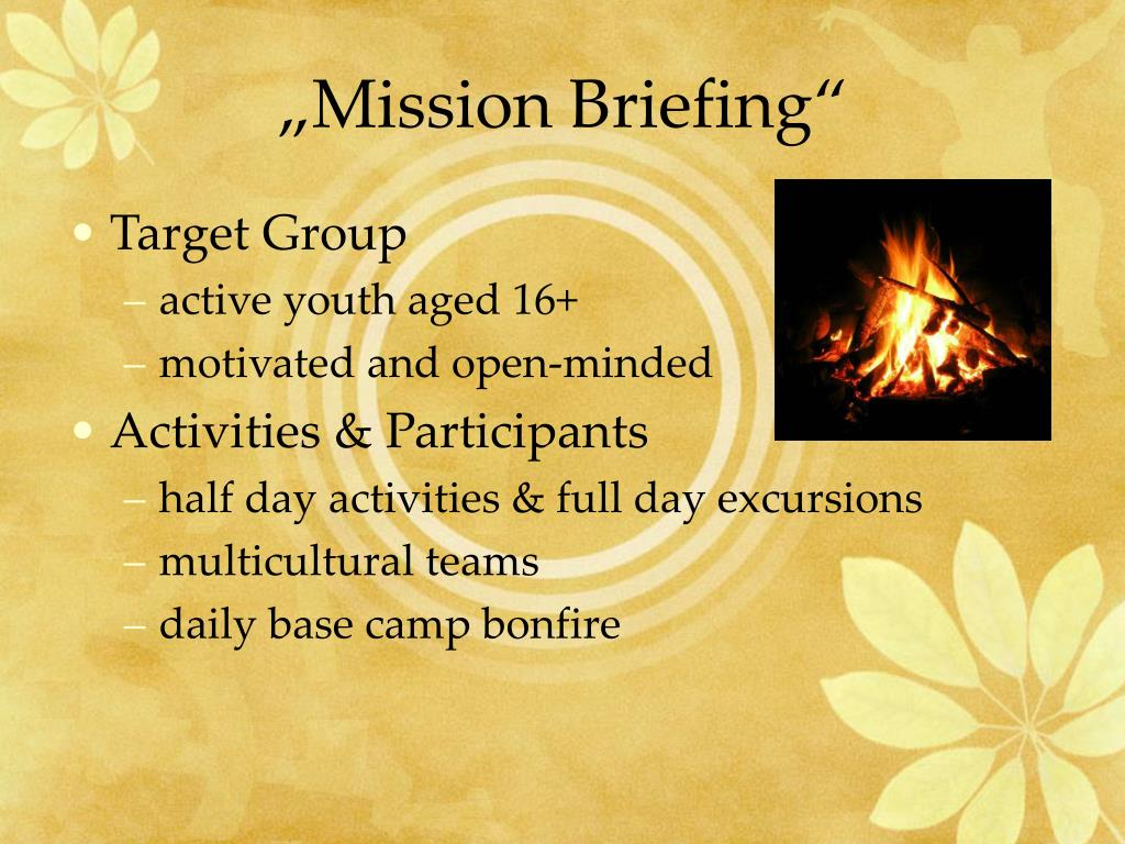 """""""Mission Briefing"""""""
