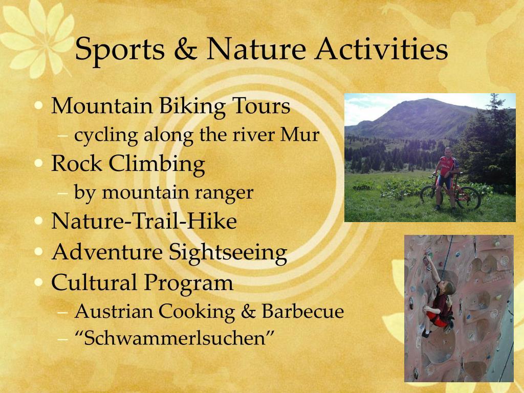 Sports & Nature Activities