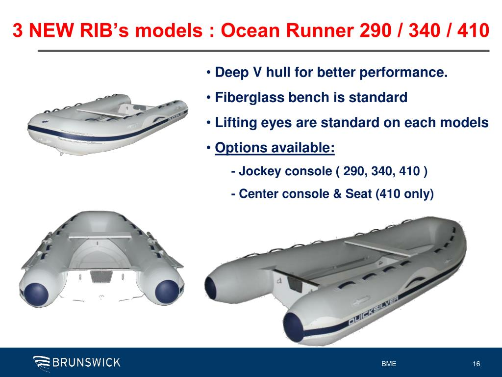3 NEW RIB's models : Ocean Runner 290 / 340 / 410