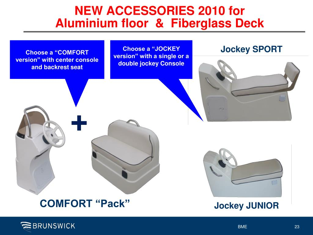 NEW ACCESSORIES 2010 for Aluminium floor  &  Fiberglass Deck
