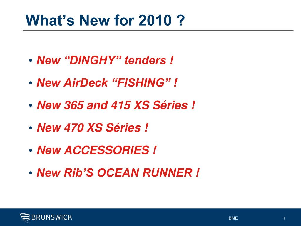 What's New for 2010 ?