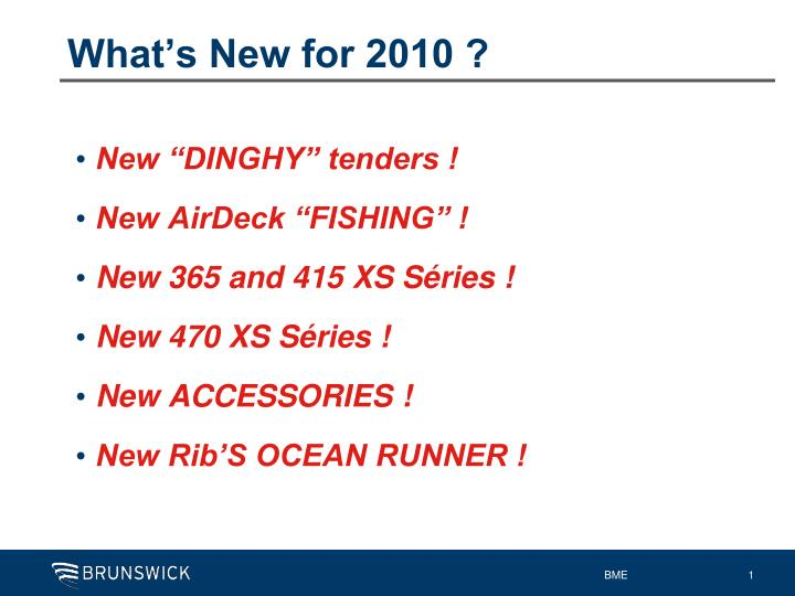 What s new for 2010