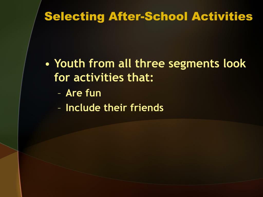 Selecting After-School Activities