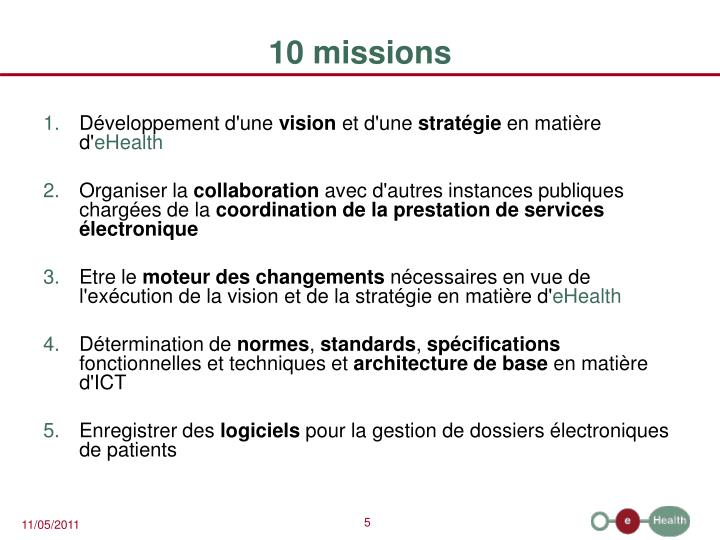 10 missions