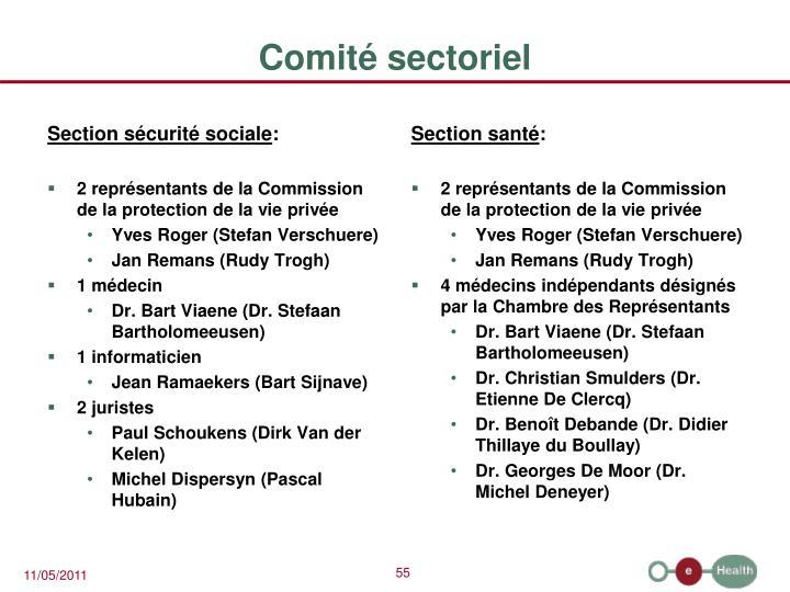 Section sécurité sociale