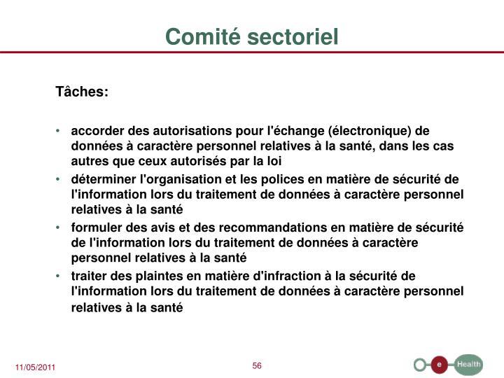 Comité sectoriel