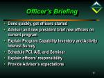 officer s briefing
