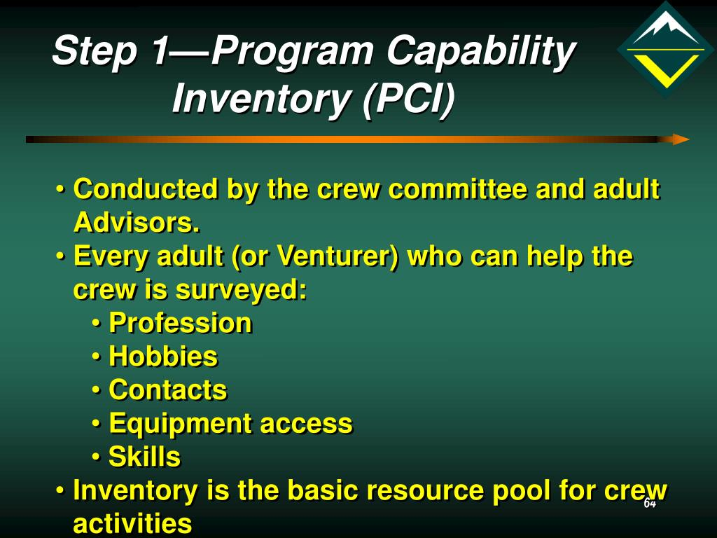 Step 1—Program Capability Inventory (PCI)