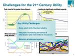challenges for the 21 st century utility