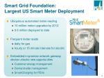 smart grid foundation largest us smart meter deployment