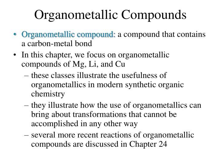 Organometallic compounds1