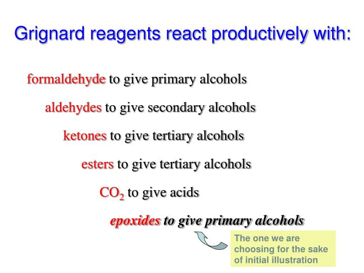 Grignard reagents react productively with: