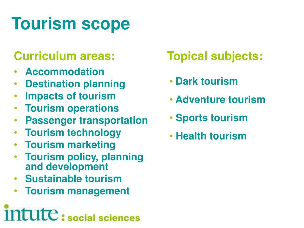 Tourism scope
