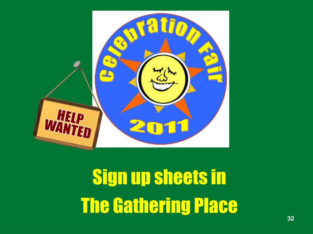Sign up sheets in