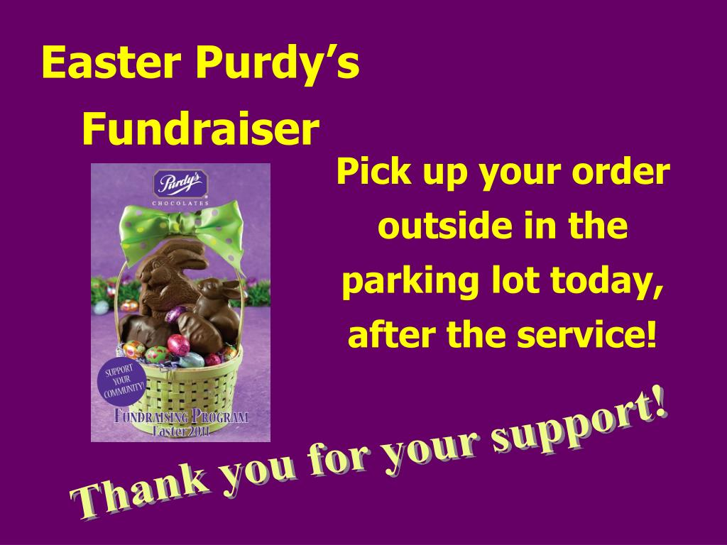 Easter Purdy's Fundraiser