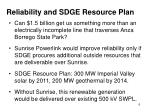 reliability and sdge resource plan