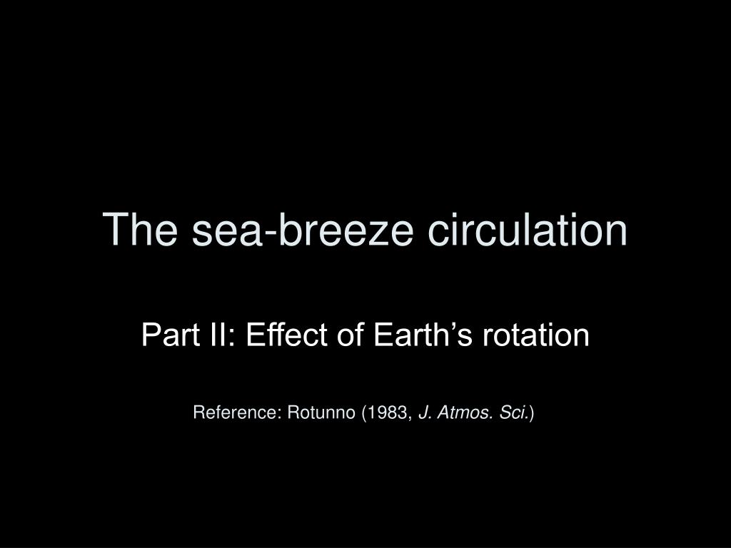 the sea breeze circulation l.