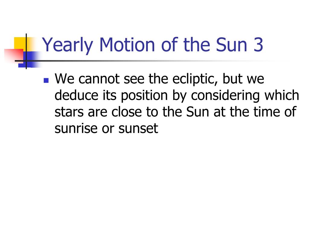Yearly Motion of the Sun 3