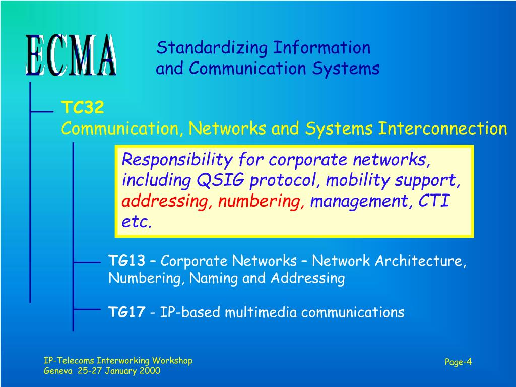 Standardizing Information