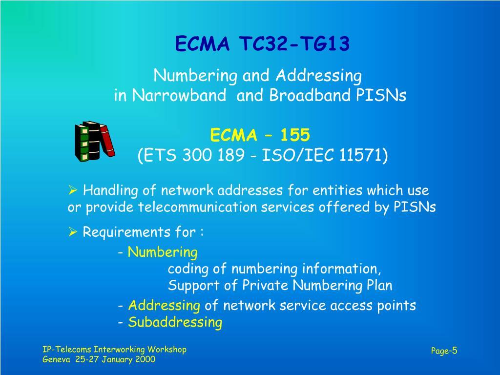 ECMA TC32-TG13