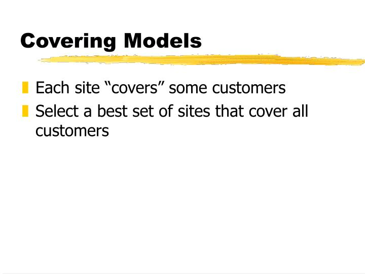Covering Models