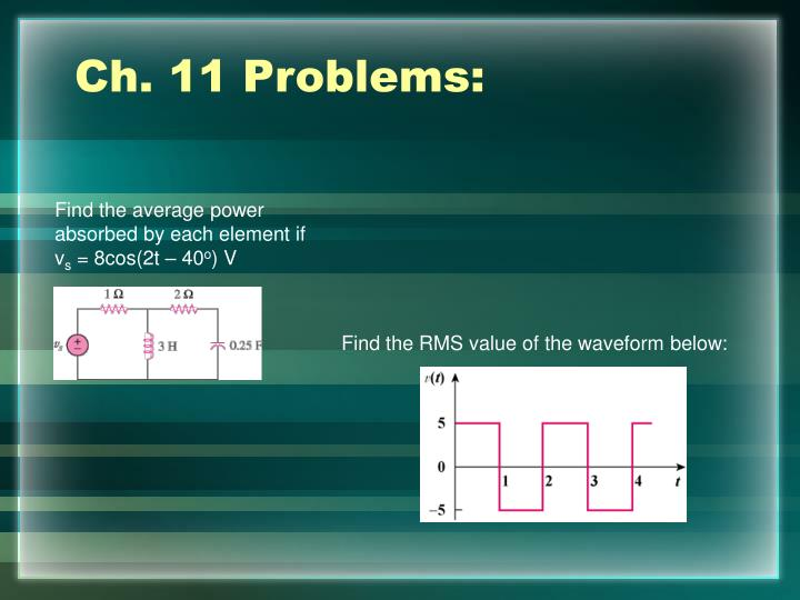 Ch. 11 Problems: