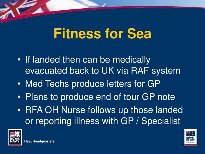 Fitness for Sea