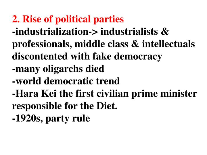 2. Rise of political parties