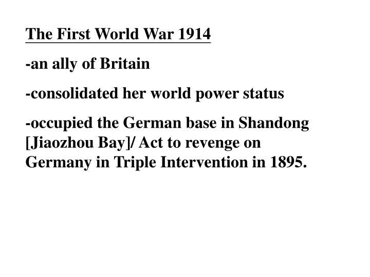 The First World War 1914