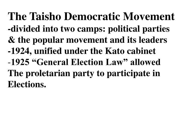 The Taisho Democratic Movement