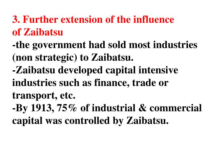 3. Further extension of the influence